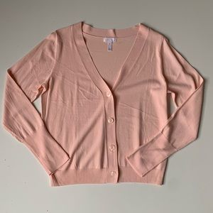 LEITH Light Pink Button Up Long Sleeve Cardigan